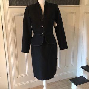 Black silk/wool suit NWT